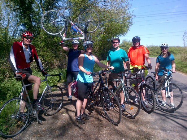 A group photo of us on our ride: (L-R) Mike, Tony, Tamsyn, Stuart, Pete and Kirsty