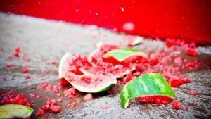 Exploding watermelon