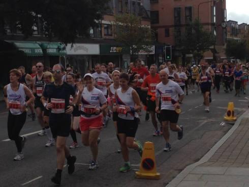 Start of the New Forest marathon (© Stuart Smith)