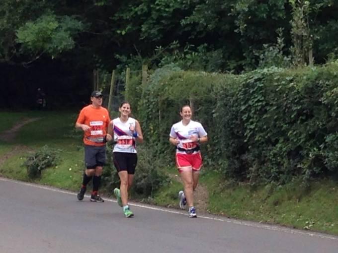 Tamsyn and Irene running through Burley