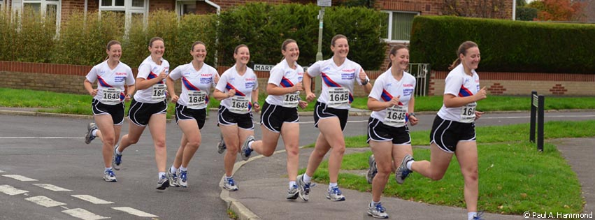 Montage of images of Tamsyn at Gosport Half Marathon