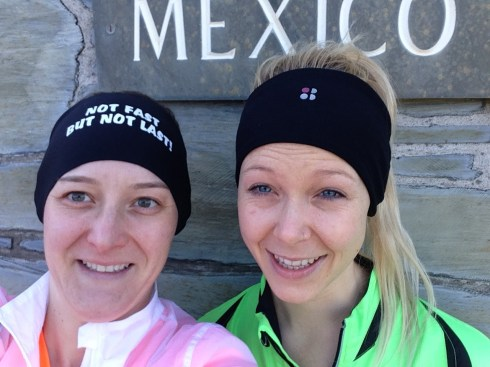 Selfie with my cousin Anneliese before our 5k jog to the beach
