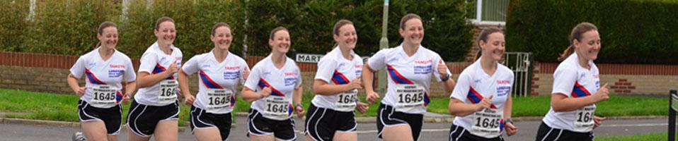 Montage of Tamsyn running at Gosport Half Marathon
