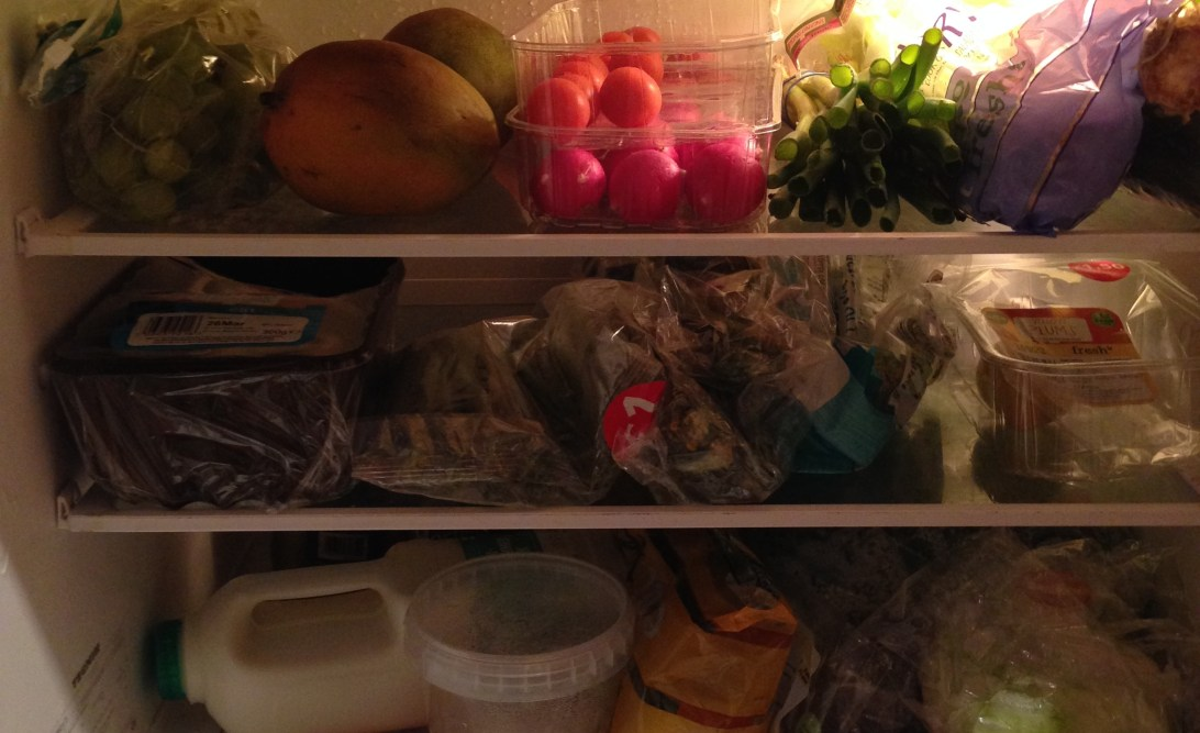 Healthy food in my fridge