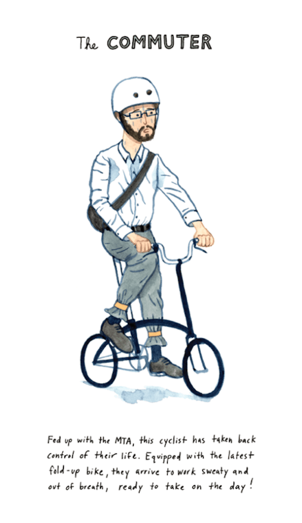 Caricature of a commuter