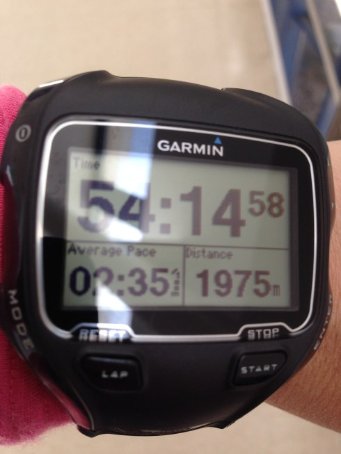 My time for 2000m