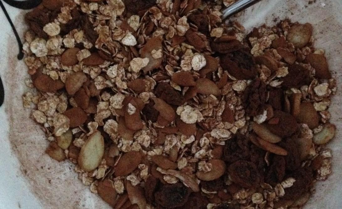 Chocolate brownie porridge