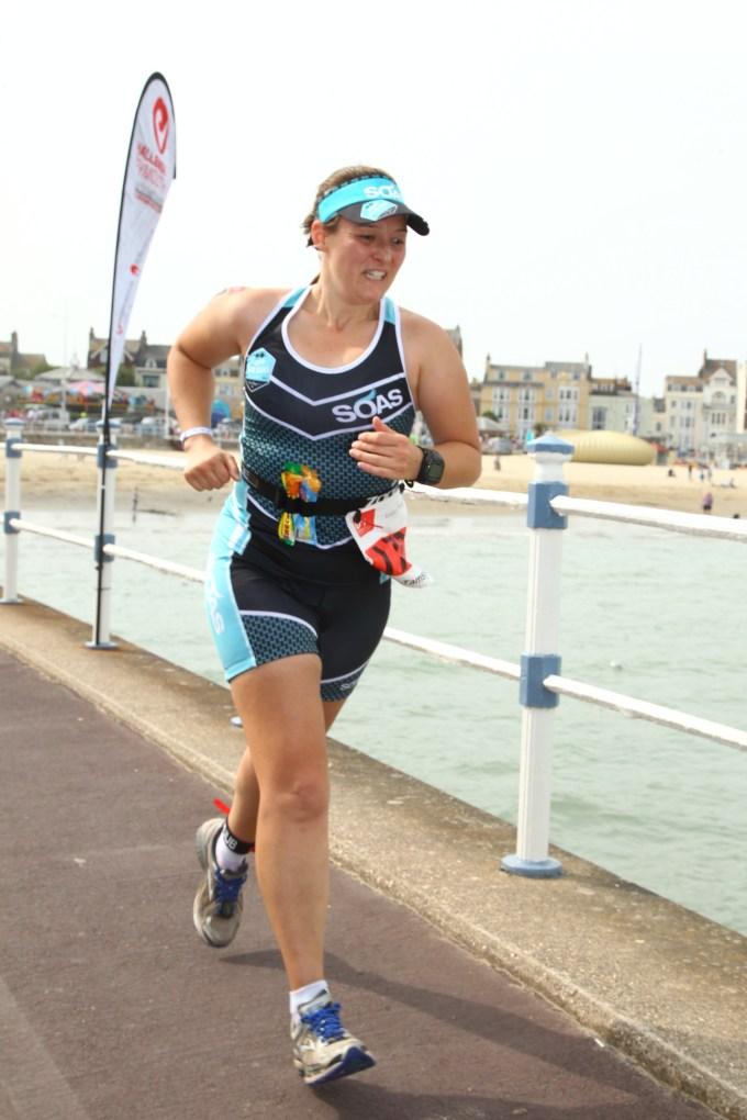 Tamsyn running at Weymouth Half.
