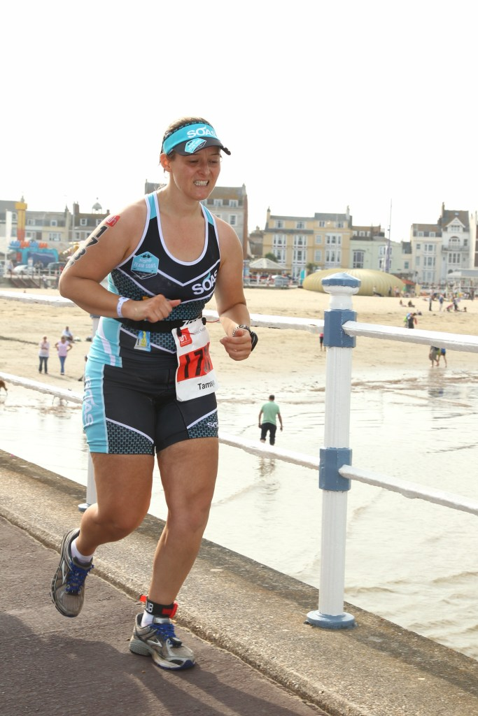 Tamsyn running at Weymouth Half.