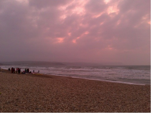 Rough sea at Weymouth.