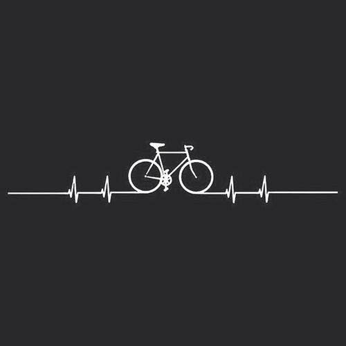 Image of a bike as part of a cardiograph