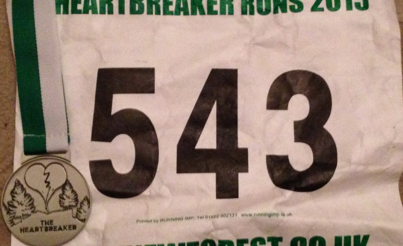 Heartbreaker bib and medal