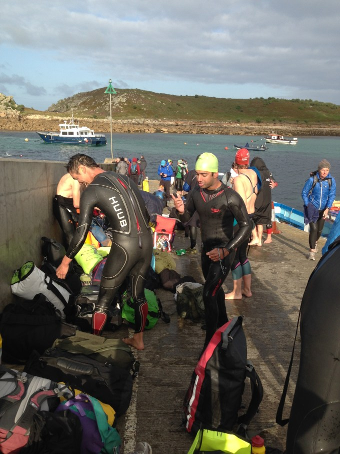 Swimmers on St Agnes