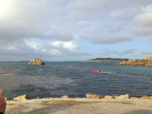 Some of the few swimmers who made it to St Agnes