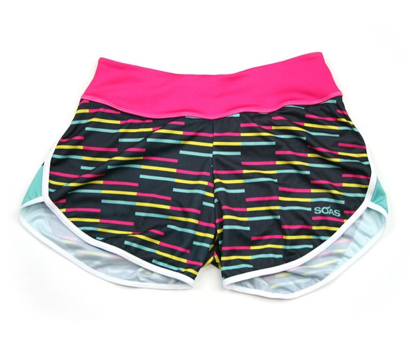 Brightly coloured running shorts.