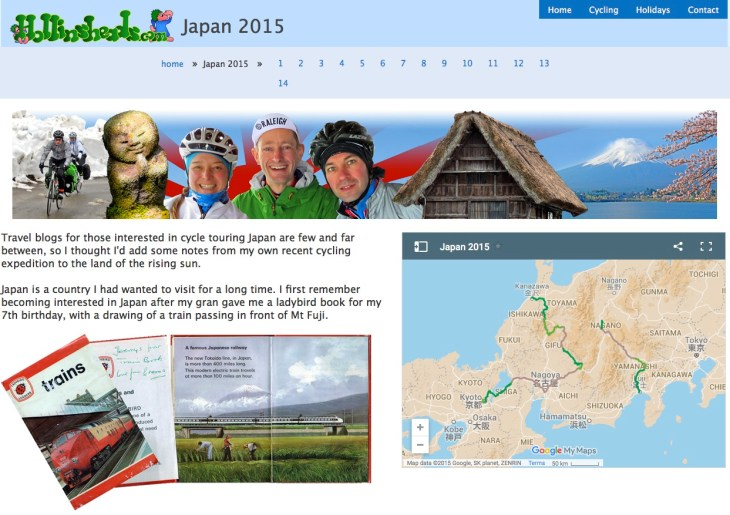 Cycling in Japan on Hollinsheads.com