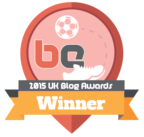 2015 UK Blog Awards Sports Blog Winner - Sports Blogger of the Year
