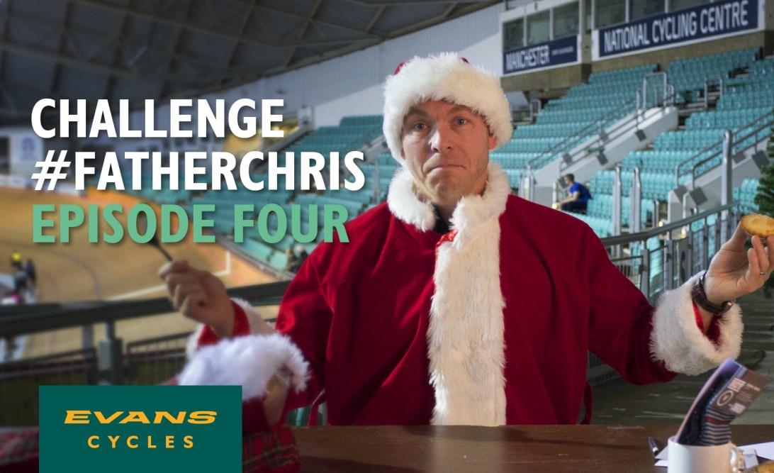 Chris Hoy dressed as Santa