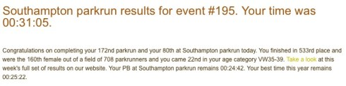 parkrun 5th March