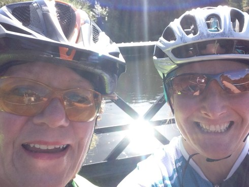 A selfie with Denise by a canal in Cheshire