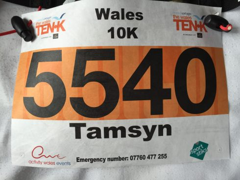 Wales 10k race number