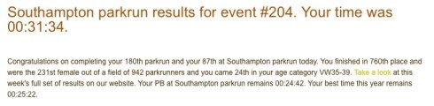 parkrun 14th May