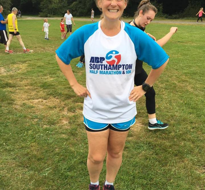 Tamsyn at parkrun 30th July