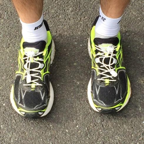 Phoenix fit UK elastic laces in Stuart's shoes