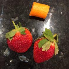 Strawberries and raw carrot