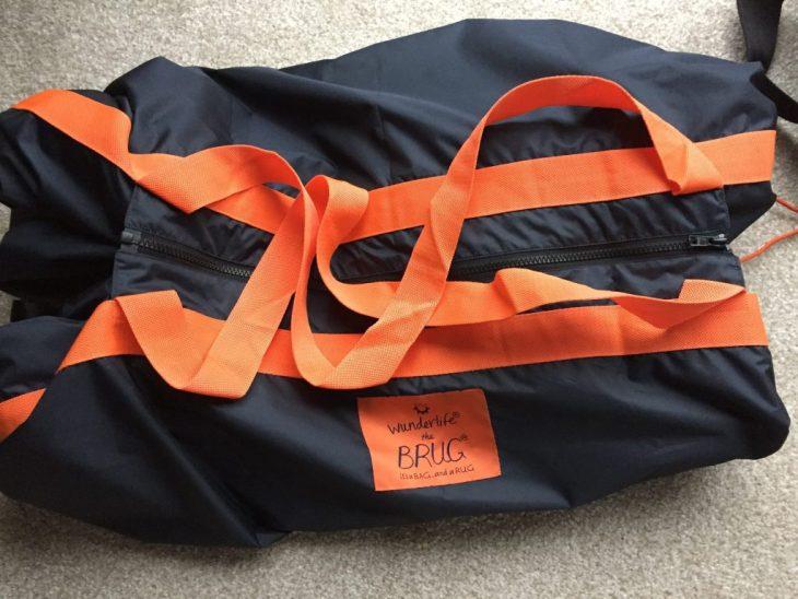 Brug set up as a bag.