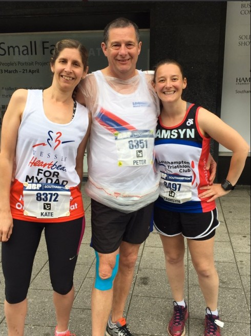 Kate, Pete and Tamsyn before the race