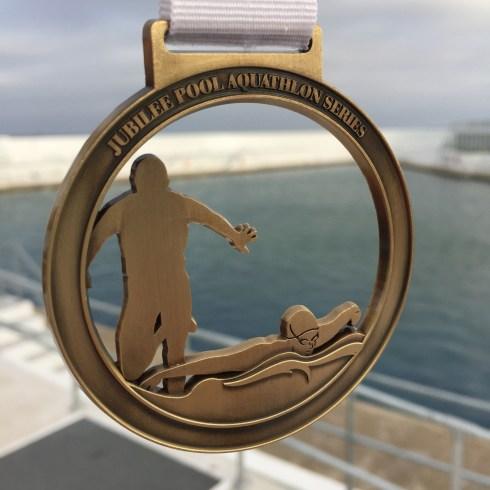 Jubilee aquathlon medal