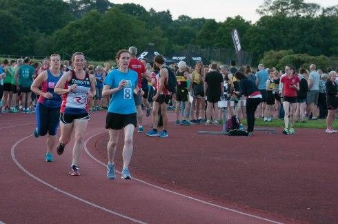Tamsyn running at Mile of Miles.