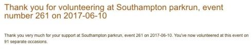 Southampton parkrun 10 June 17