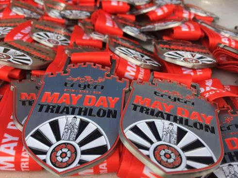 May day tri medals