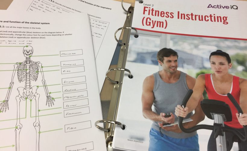 Fitness instructor course materials.