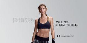 Advert featuring Gisele Bundchen