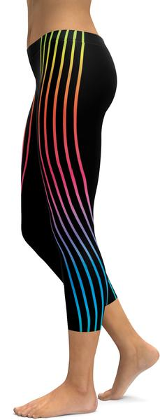 neon stripe GearBunch leggings