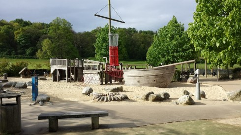 Play area in Reigate Priory Park