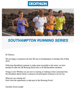 Decathlon 5k series