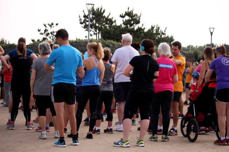 Heartlands parkrun start
