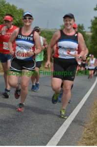 Tamsyn and Angela running at Long Course Weekend 2018