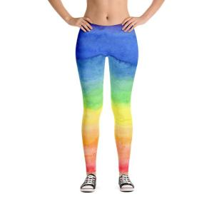 Rainbow leggings front view