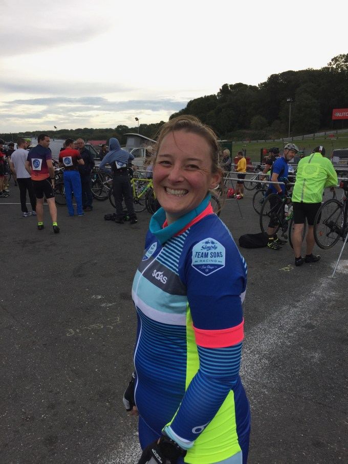 Tamsyn before the start of the 6 hour challenge at Revolve24