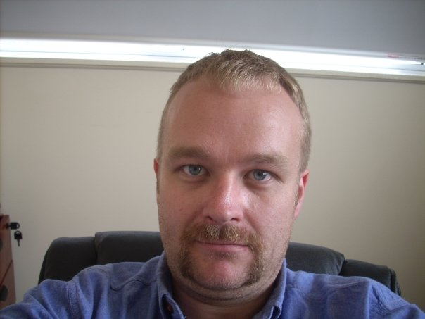 My brother, Treeve, showing off his mo in 2009