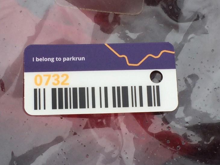 parkrun token #0732.