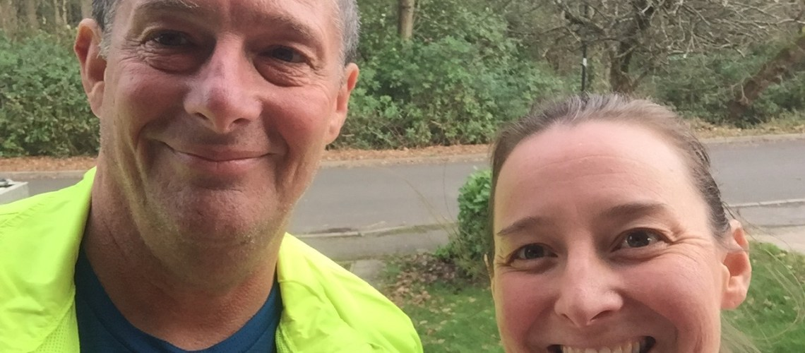 Pete and Tamsyn after a long run.