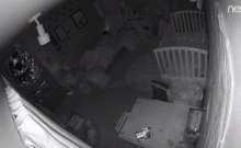 A view of a room through the Nest Cam used as a baby monitor