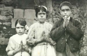 The Fatima visionaries - Blessed Jacinta, Sr Lucia and Blessed Francisco