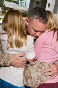 Military father and his daughters